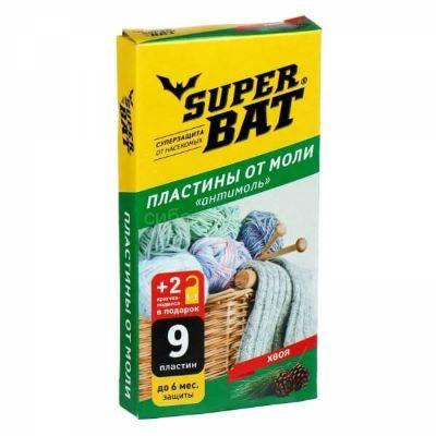 Антимоль 9шт пластин+2 крючка Хвоя Super Bat