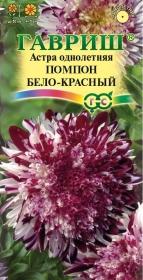Астра Помпон бело-красный (Гавриш)